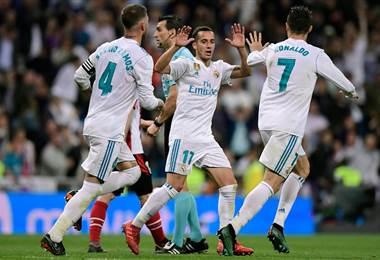 Jugadores del Real Madrid  Facebook UEFA Champions League.