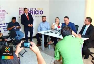 Fabricio asegura que Restauración Nacional ejercerá una oposición responsable desde la Asamblea Legislativa