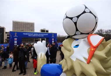 Mascota del Mundial de Rusia 2018.