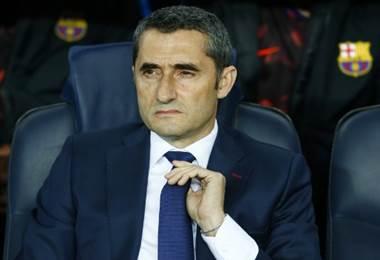 Ernesto Valverde, técnico del Barcelona.|AFP