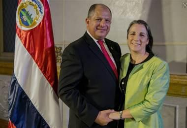 Luis Guillermo Solís y Mercedes Peñas