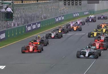Parrilla de salida de la Fórmula 1.