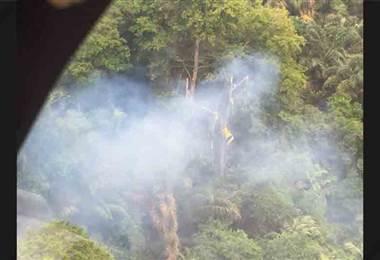 Vigilancia Aérea encuentra la avioneta que se accidentó en Limón