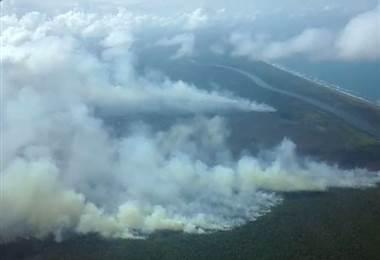 """El incendio """"fuera de control"""" que avanza en la reserva Indio Maíz en Nicaragua"""