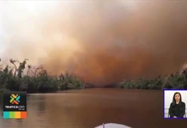 Bomberos costarricenses partirán a Nicaragua para intentar controlar y mitigar incendio forestal