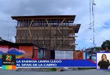 Energía limpia llegó al Sifais en ciudadela La Carpio