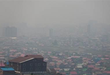 La contaminada capital de Mongolia, Ulan Bator. AFP