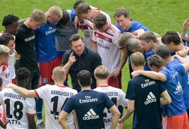 Jugadores del Hamburgo. AFP