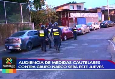Audiencia de medidas cautelares contra grupo narco detenido en Heredia será este jueves