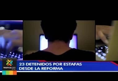 OIJ detuvo a 23 personas que prestaban cuentas bancarias a delincuentes en La Reforma para estafas