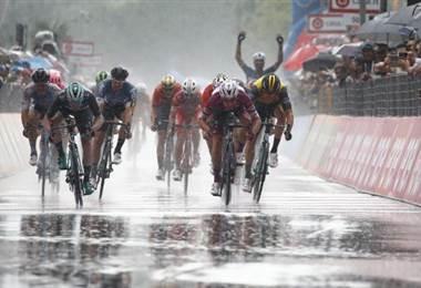 Elia Viviani, Giro de Italia 2018. AFP
