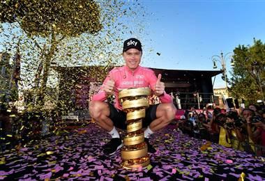 Chris Froome, ganador del Giro de Italia 2018.
