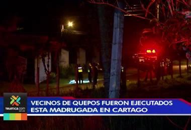 OIJ ya identificó a los dos hombres asesinados en calle solitaria de Cartago