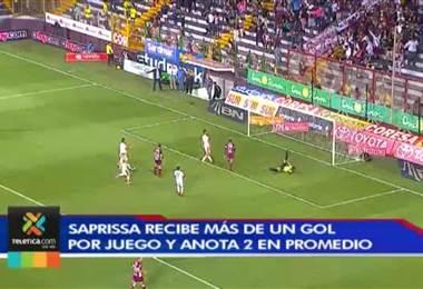 Saprissa recibe más de un gol por juego y anota dos en promedio