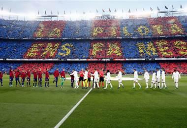 Clásico español entre Barcelona y Real Madrid.
