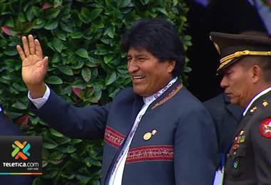 Evo Morales abando no el pais prematuramenteevo morales, abandono el pais, traspaso poderes, carlos alvarado, reunión,