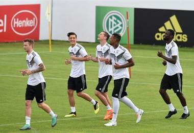 Entrenamiento de la selección de Alemania.|AFP