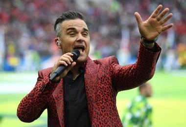 Robbie Williams, cantante británico.|AFP