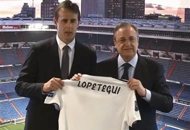 Presentación de Julen Lopetegui como técnico del Real Madrid.|realmadrid.com