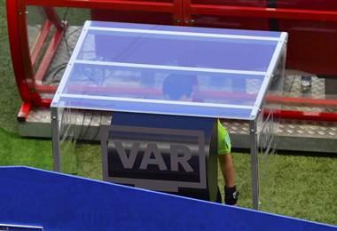 El VAR debuta en Rusia 2018. AFP