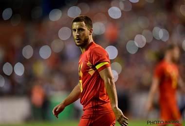 Eden Hazard, futbolista de la Selección de Bélgica.