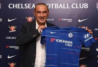 El italiano Maurizio Sarri, nuevo técnico del Chelsea.