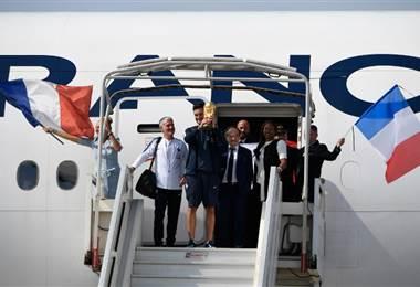 La Selección de Francia llegó a París  AFP.