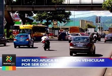 Este miércoles feriado no hay restricción vehicular en San José