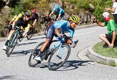 El ciclista colombiano Nairo Quintana  Movistar Team.
