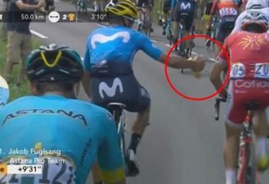 Andrey Amador durante la etapa 19 del Tour de Francia 2018.