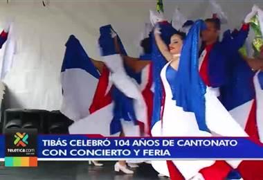 Con actividades culturales el cantón de Tibás celebró los 104 años de su fundación