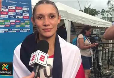 Andrea Vargas ganó oro en los 100 metros vallas en los Juegos Centroamericanos y del Caribe 2018 con un tiempo de 12.90