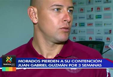 Juan Gabriel Guzmán estará tres semanas de baja con el Saprissa