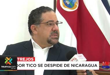 Embajador costarricense Eduardo Trejos dio por finalizada su labor en Nicaragua