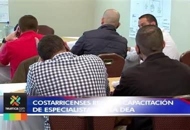 Ticos reciben capacitación con especialistas de la DEA