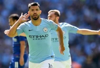 'Kun' Agüero, delantero argentino del Manchester City.