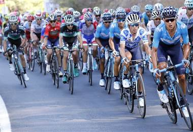 Andrey Amador, ciclista costarricense del Movistar Team.