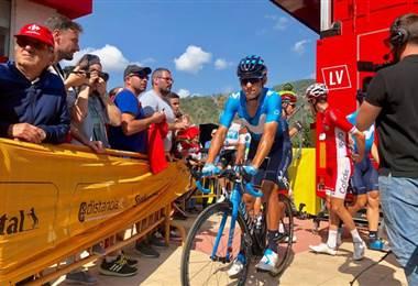 Andrey Amador, ciclista costarricense del Movistar Team español.