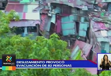Deslizamiento en Granadilla norte provocó que 82 personas pasaran la noche en un albergue