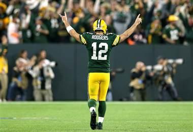 Aaron Rodgers de los Packers. AFP