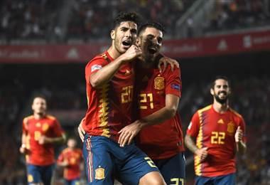 España goleó a Croacia. AFP