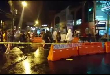 Fuerza Pública dispersa manifestantes que bloqueaban vía principal en San Pedro