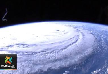 Estación Espacial Internacional capta sorprendentes imágenes del huracán Florence