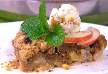 Receta: Crumble de manzana y macadamia