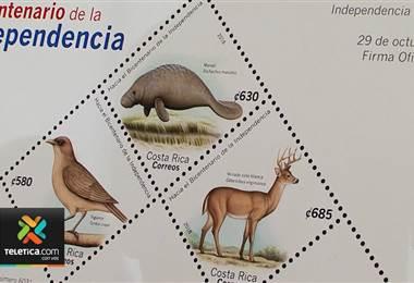 Correos de Costa Rica presentó una nueva estampilla hacia el bicentenario de la independencia