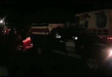 Manifestantes bloquearon el paso de la antorcha de Independencia en Liberia