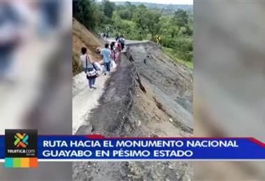 Turistas y usuarios que visitan el parque Nacional Guayabo sufren por camino en pésimo estado
