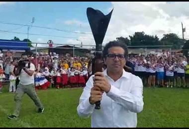Llega el Ministro de Educación, Edgar Mora a Esparza