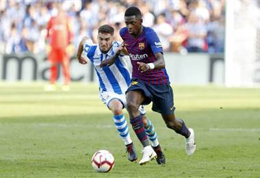 Ousmane Dembélé logró el gol de la victoria para el Barcelona. Barcelona.es