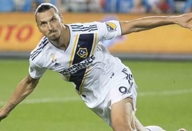 El delantero sueco del Galaxy, Zlatan Ibrahimovic.